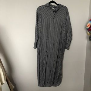 VINCE Striped Shirt Dress Sz XS